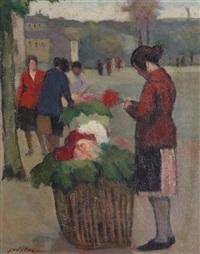les marchandes de fleurs by charles emmanuel jodelet