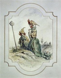 capucine (sketch) by jean ignace (isidore gérard) grandville