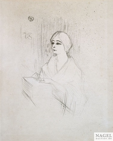 yahne in her box by henri de toulouse lautrec
