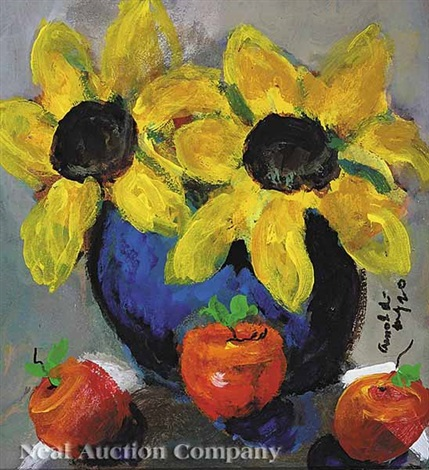 sunflowers and apples 2 others 3 works by william arnold