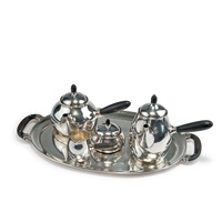 kaffee- und teeservice perl mit tablett by georg jensen (co.)