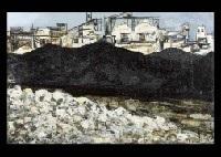 landscape along the port by akira komatsu