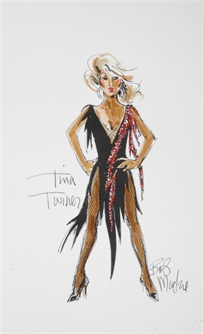 Tina Turner Costume Illustrations By Bob Mackie On Artnet