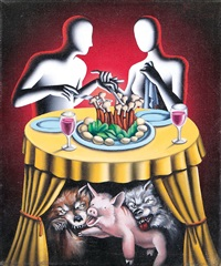 keeping up appearances by mark kostabi