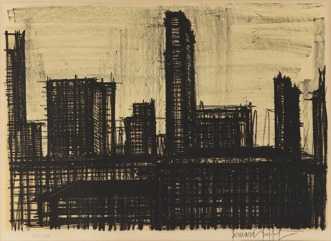ohne titel pl10 from new york album by bernard buffet