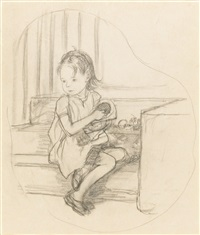 four preliminary pencil drawings (4 works) by ernest h. shepard
