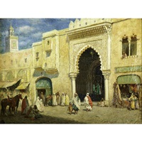 a middle eastern market scene by addison thomas millar