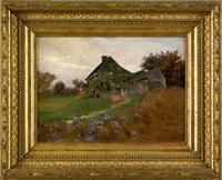 landscape with farmhouse by h. winthrop peirce