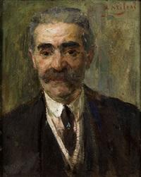portrait eines herren by alessandro milesi