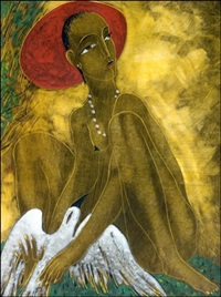 nainen ja kyyhky - a woman and a dove by victor anufriev