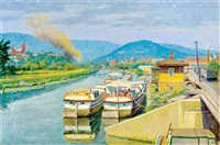 the canal basin at cumberland, maryland by garnet w. jex