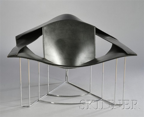 Lounge Chair (designed By Jacques Harold Pollard) By Matteo Grassi
