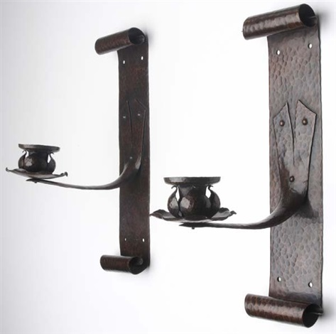 pair of candle sconces by onondaga metal shops