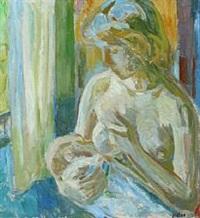 portrait of a nursing woman by paul hom