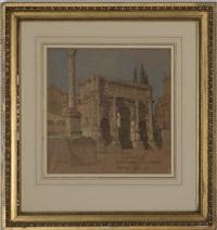 arch of septimius severus, rome by walter herbert allcott