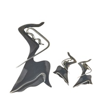 the dancer brooch and matching earrings (2 works) by ed wiener