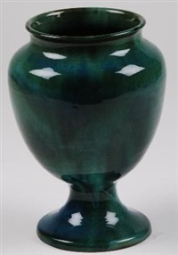 a pedestal vase by linnware