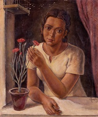 mujer en una ventana by a. ziegler