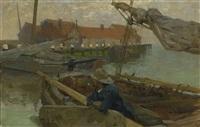 fischerboote im hafen by gari melchers