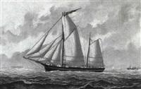 the fishing lugger ann in the channel by john fannen