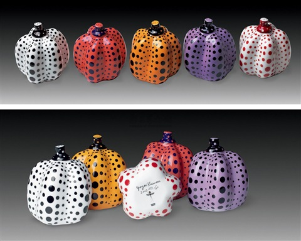 南瓜 serieno2 瓷 pumpkin serie no2 5 works by yayoi kusama
