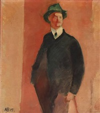 portait of the writer rasthøj by axel bentzen