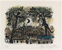 la lune noire by marc chagall