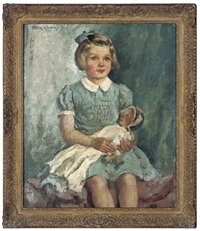 portrait of miss susan maconochie with her favourite doll by frederic whiting