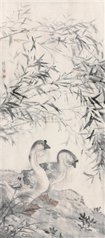 two geese by xu xiaobing