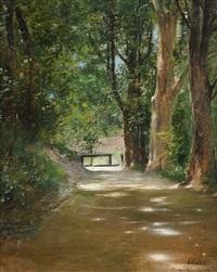 allee im park by nikolai alexandrovich klodt