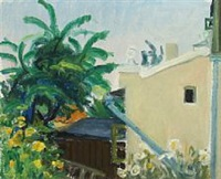 view from the artist home in helsingor, maryhill by knud agger