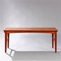 rectangular dining table with extension and two extra leaves placed underneath by harbo solvsteen