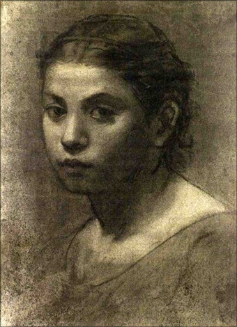 portrait of a young girl by william morris hunt