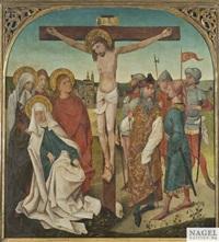 kreuzigung christi. unter dem kreuz erweiterte kreuzigungsgruppe mit joseph von arimathäa, dem römischen hauptmann und soldaten by anonymous-german (15)