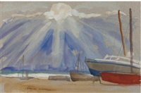 stormy sunset, aldeburgh (+ 7 others; 8 works) by jean alexander