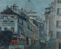 parisian street scene with sacre couer by robert coutelas