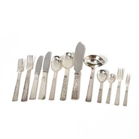 champagne silver cutleri (set of 85) by jens quistgaard