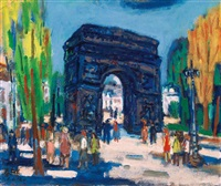 arc de triomphe, paris by liao chi chun