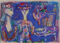 female figures by shmuel raayoni