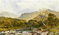 the lledr valley looking towards moel siabod by james peel