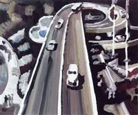 autoroute avec trois automobiles by carole benzaken