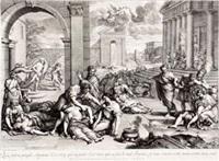 上帝散播瘟疫惩罚因戴维的傲慢而获罪的以色列 by gérard audran