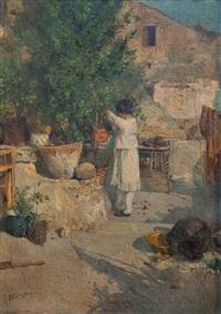 niña de vestido blanco by edwardo scognamiglio