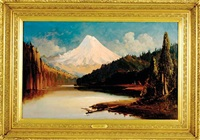 mount hood from the river by edward hill