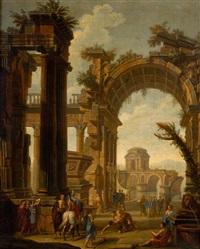 capricho de ruinas con figuras by pietro francesco garoli