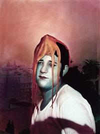 retrato con pulpo en la cabeza by barbara ouka lele