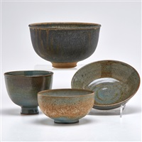 bowls (4 works) by edwin and mary scheier
