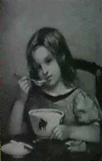 little girl eating porridge by joseph nichols hippolyte aussandon