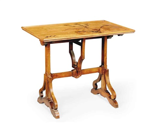 flip top occasional table by émile gallé