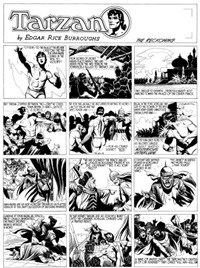 tarzan, the reckoning, planche sunday 731 by burne hogarth